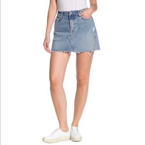GRLFRND Eva Mini Denim Skirt in Secret Love